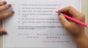 AYT-YKS Türk Dili ve Edebiyatı Hazırlık Soruları