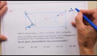 Geometri AYT Soru Çözümleri