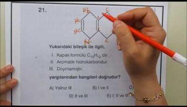 Kimya AYT Soru Çözümleri