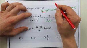Matematik Sınavı TYT Örnek Sorular