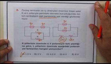 Sınavda Çıkabilecek TYT Fizik Soruları