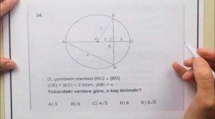 Tekrar Amaçlı AYT Geometri Soru Çözümleri
