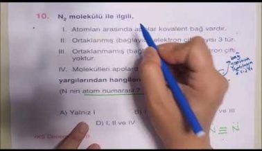 TYT Kimya Sınavında Çıkabilecek Sorular